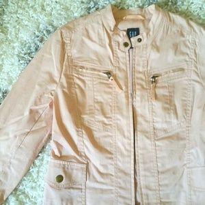 Jackets & Blazers - GAP Lightweight Cotton Moto Jacket